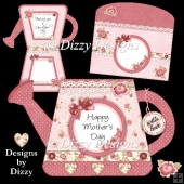 Roses Watering Can Card