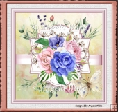 Mixed roses 7x7 card