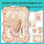 Summer Shoes Bracket Shaped Card
