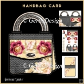 Handbag Card Kit Sommer Roses