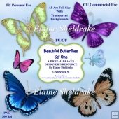 Beautiful Butterflies - Set One - CU Designer Resource For CU/PU