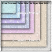 Rose Embossed Fabric Effect A4 Paper Pack PU/CU