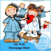 Get Well Decoupage Sheet
