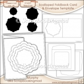 6X6 Scalloped Foldback Card Kit Templates Commercial Use