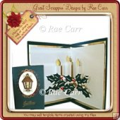 002 3 Christmas Candles Insert *MACHINE Cut File/s*