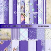 Vintage Shabby Grunge purple background paper 12 inch