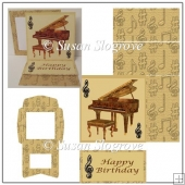 Grand Piano Easel Card and Envelope