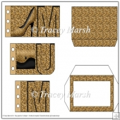 Mum Leopard Print Word Book Card Set