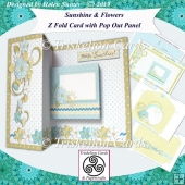 Sunshine & Flowers Z Fold Card with Pop Out Panel & Envelope