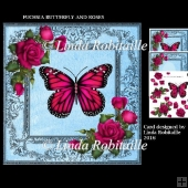 Fuchsia Butterfly And Roses
