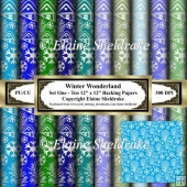 Winter Wonderland - Set One - Ten 12 x 12 Backing Papers