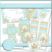 Beary Christmas Gold Party Set