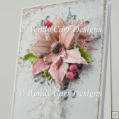 TALL FLORAL SPRAY CARD - DIVINE CHRISTMAS