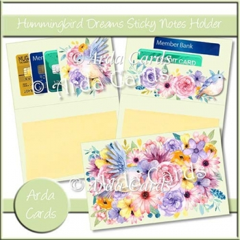 Hummingbird Dreams Sticky Notes Holder