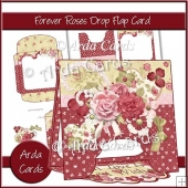 Forever Roses Drop Flap Card