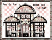 Rue de Paris Boutique Clipart