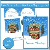 Little Christmas Sweet Shop Framed Pyramage Card