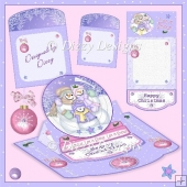 Snow Globe #2 Easel Topper Card Kit