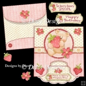 Strawberry Bear Drop Flap Card