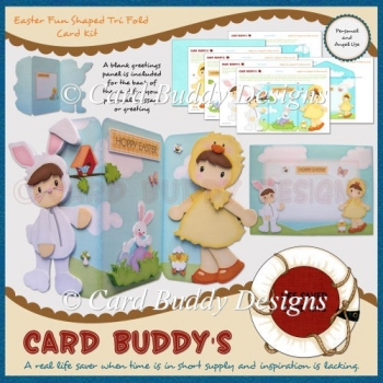 Easter Fun Shaped Tri Fold Card Kit