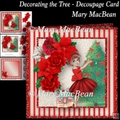Decorating the Tree - Decoupage Card