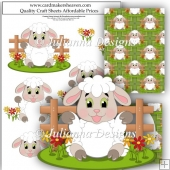 Sweet Lamb Decoupage Set