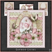 Vintage Romantic Lace Easter Egg Card Kit 1142