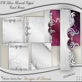 CU Silver Flourish Edged Card Fronts