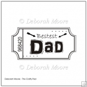 Bestest Dad Digital Stamp/Sentiment