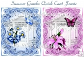 Summer Gazebo Pair of Quick Card Fronts