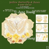 Yellow Butterfly & Roses - 3-Sheet Mini-Kit