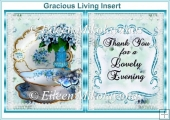 Gracious Living Thank You Card Insert