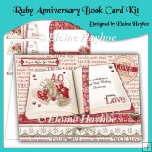 Ruby Anniversary Open Book Card Kit