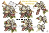 Christmas Decoupage and Clipart Commercial Use