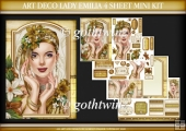 Art Deco Lady Emilia 4 Sheet Mini Kit Gold