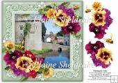 Whittington Castle, Shropshire 8 x 8 Decoupage Card Topper