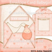 Peek a Boo Envelope Card Baby Girl