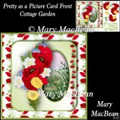 Pretty as a Picture Card Front - Cottage Garden