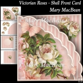 Victorian Roses - Shell Front Card