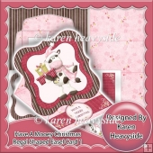 Mooey Christmas Regal Shaped Easel Card 1