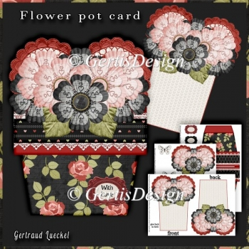 Flower Pot Stand Alone Card Kit