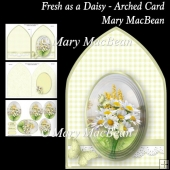 Fresh as a Daisy - Arched Card