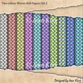 Two colour Woven 8x8 Papers Set 2