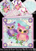 Owl Couple So Happy Together Mini Kit