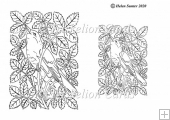Songbird Digital Stamp Colouring Page Line Art