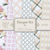Designer Mix Set 4 A4 Papers