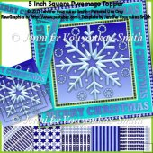 5 Inch Square Pyramage Topper-Christmas Snowflake
