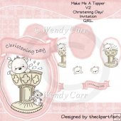 RTP Make me a Topper - Christening Day/Invitation GIRL V2