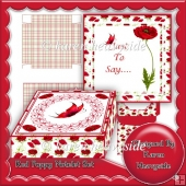Red Poppy Notelet Set