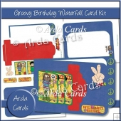Groovy Birthday Waterfall Card Kit